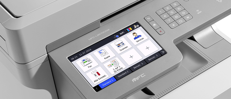 Brotehr Farblaserdrucker mit großem Touch-Display