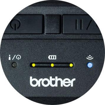Nahaufnahme mobiler RJ-Drucker, Ansicht von vorn