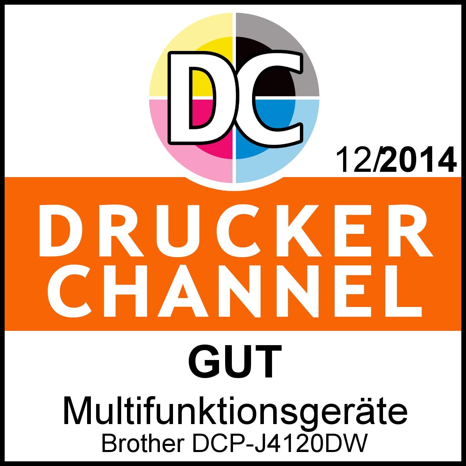 Brother DCP-J4120DW Druckerchannelwertung