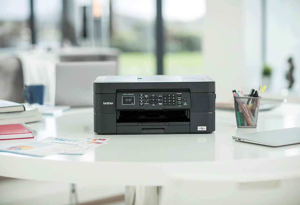 Brother inkjet printer in home office setting