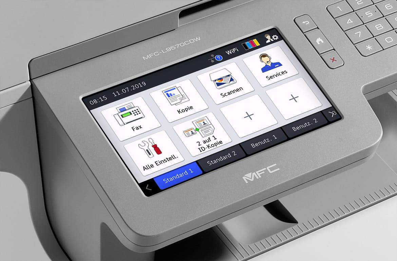 MFC-L6800DW Service, Display mit Bildschirm