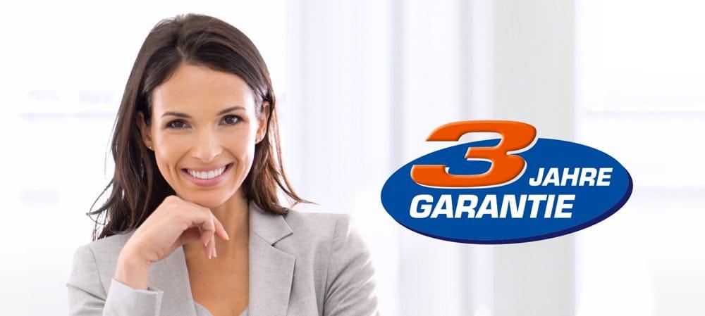 Drei Jahre Hersteller Garantie