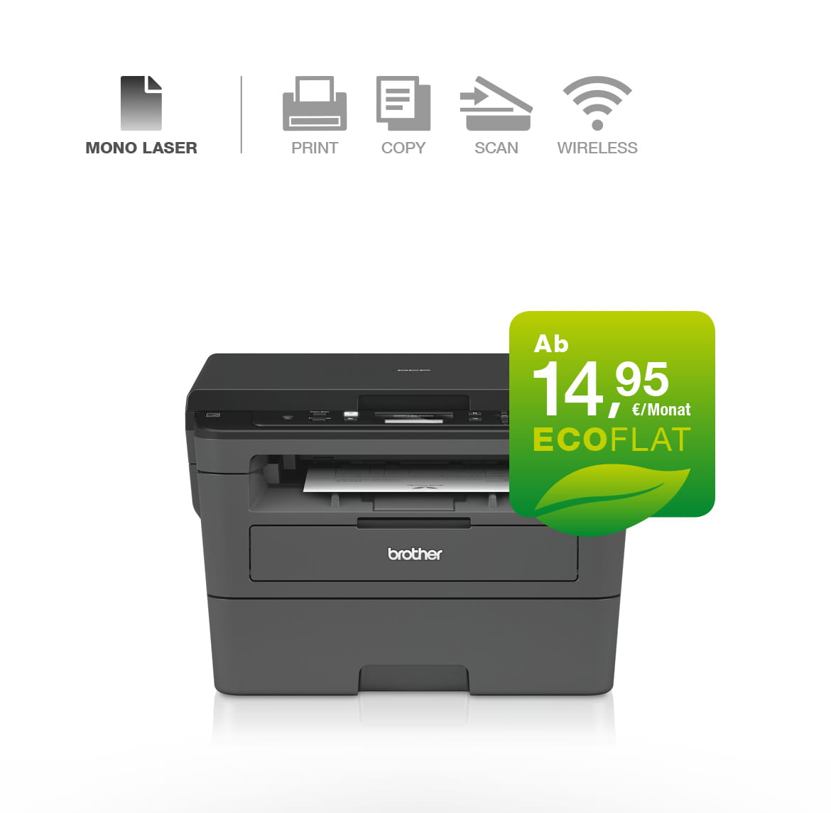 Brother 3-in-1 Multifunktionsgerät DCP-L2530DW