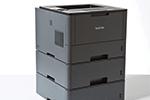 HL-L5000D mit bis zu 3 Papierkassetten