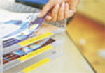 PT-H105WB als Beschriftungsgerät für Ihr Home-Office