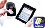 Brother QL-710W wird über Tablet benutzt