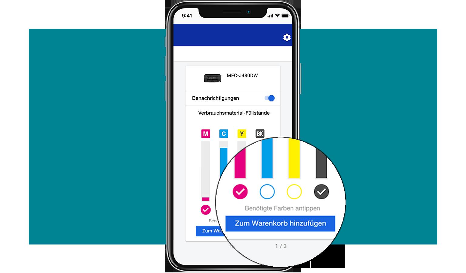 MySupplies-App Wahrenkorb