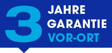 3-Jahre-Garantie-Logo, Vor-Ort