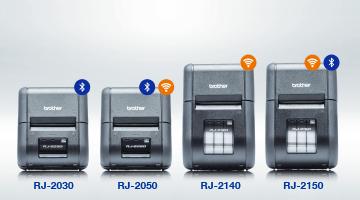 4 neue mobile Etikettendrucker der Brother RJ-2 Serie