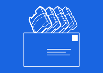 Logo für Recycling von Druckerpatronen