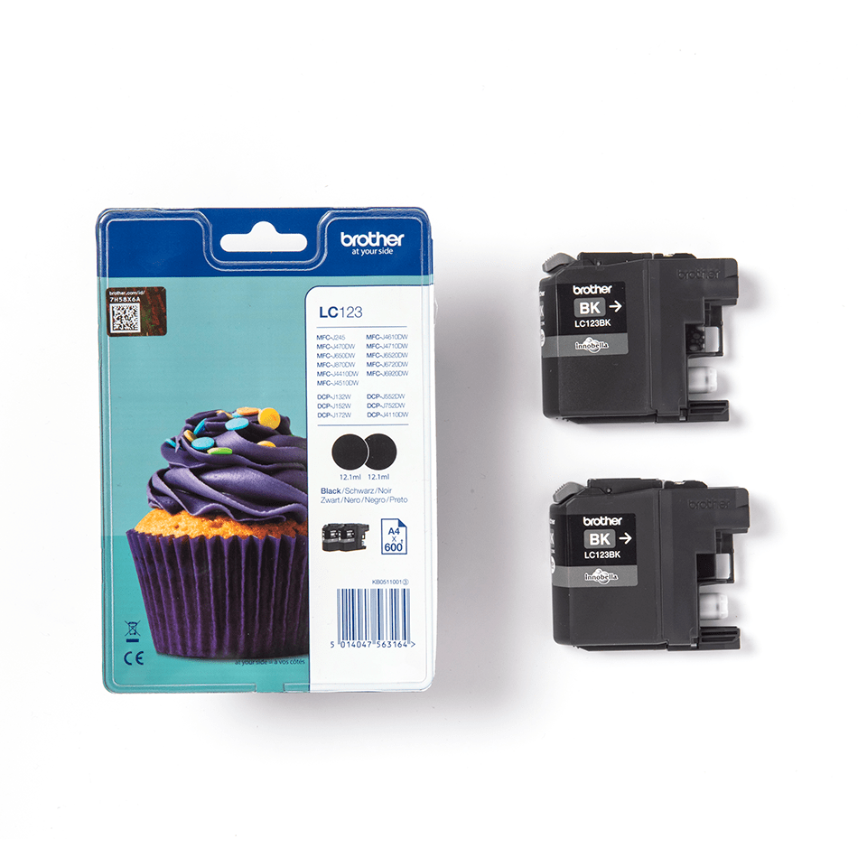 Original Brother LC-123BK Twin Pack 2