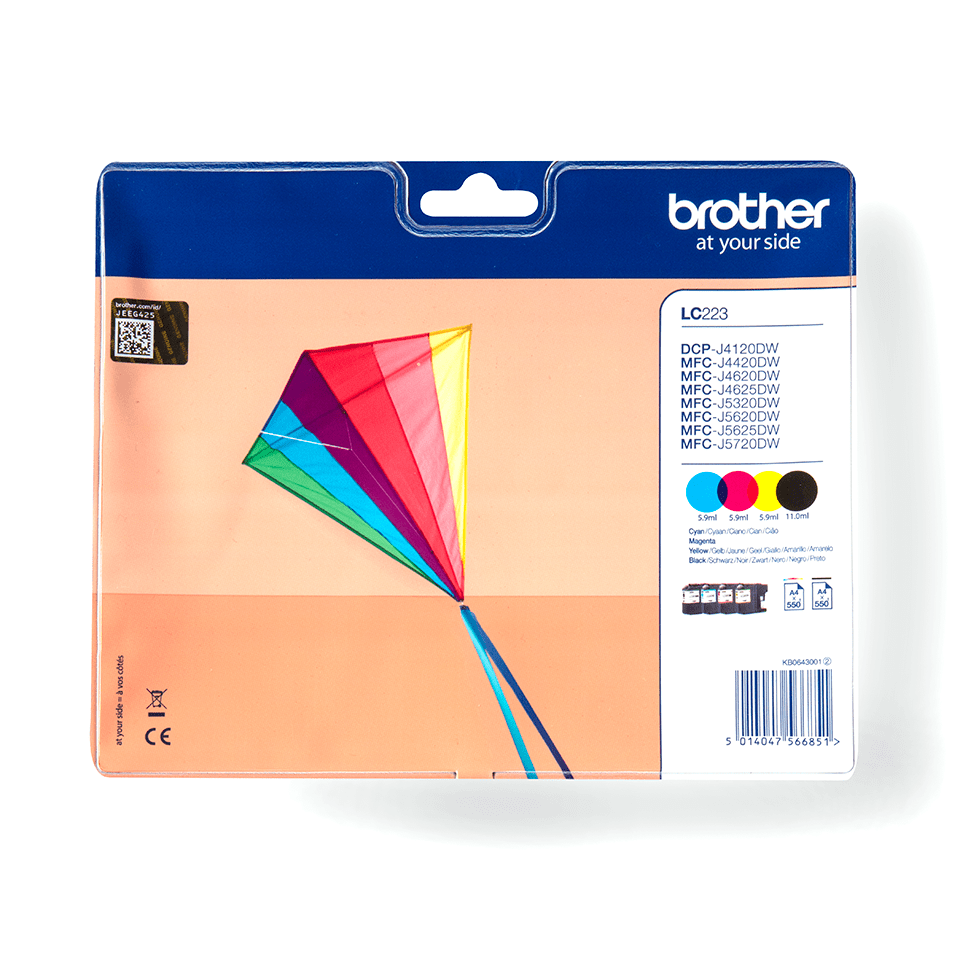 Original Brother LC-223 Value Pack