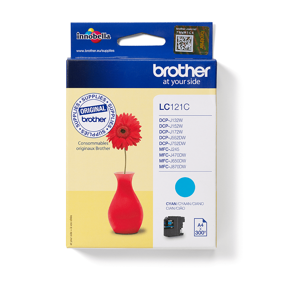 Brother LC-121C Tintenpatrone – Cyan 1
