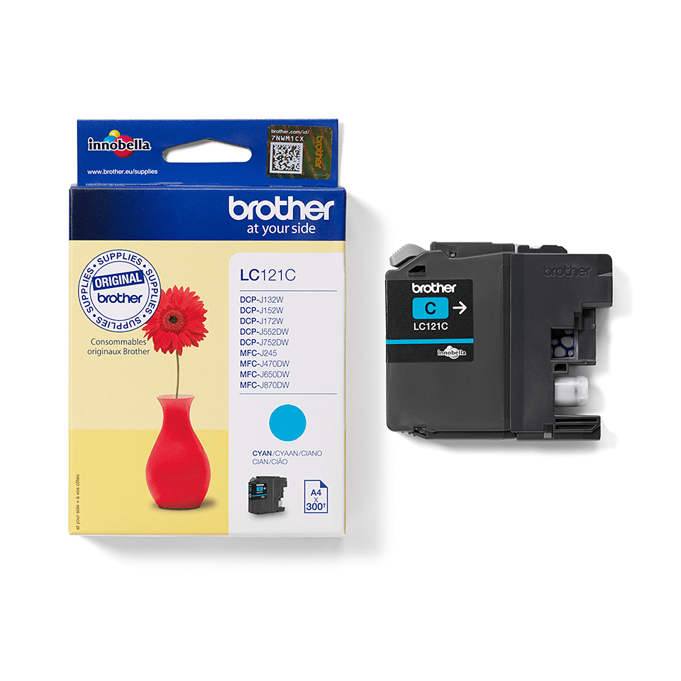 Brother LC-121C Tintenpatrone – Cyan 0