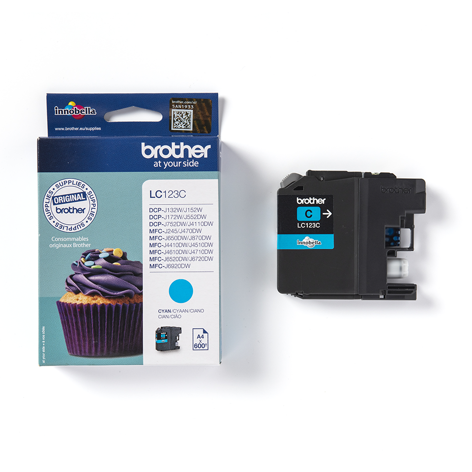 Brother LC-123C Tintenpatrone – Cyan 2