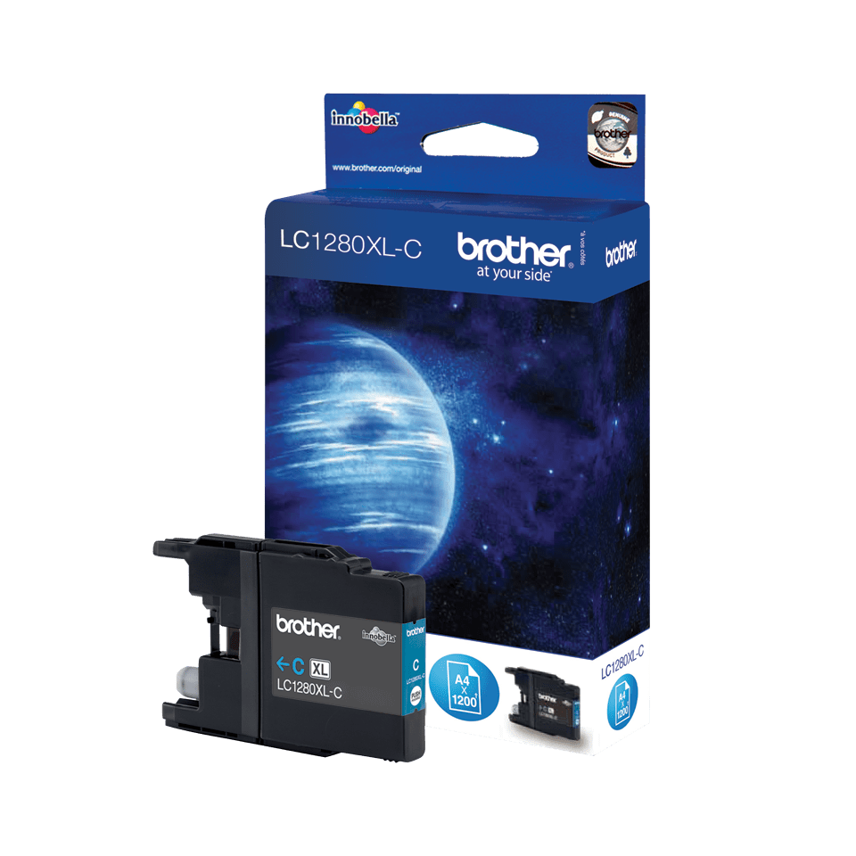 Brother LC-1280XL-C Tintenpatrone – Cyan 0