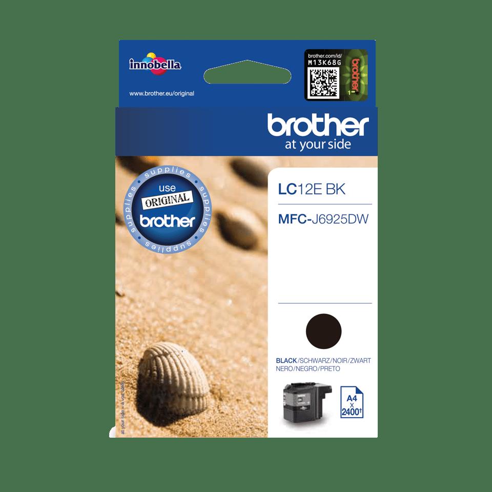 Brother LC-12EBK XL-Tintenpatrone – Schwarz