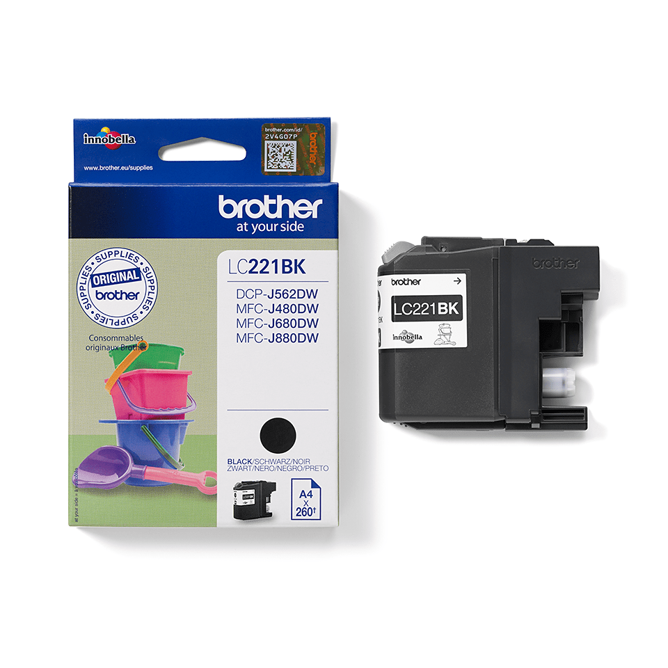 Brother LC-221BK Tintenpatrone – Schwarz 2