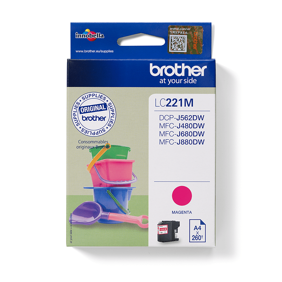 Brother LC-221M Tintenpatrone – Magenta