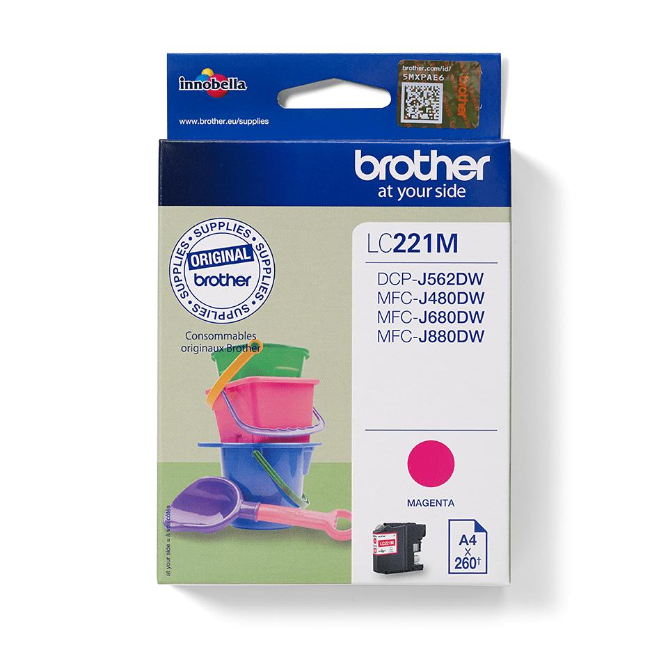 Brother LC-221M Tintenpatrone – Magenta