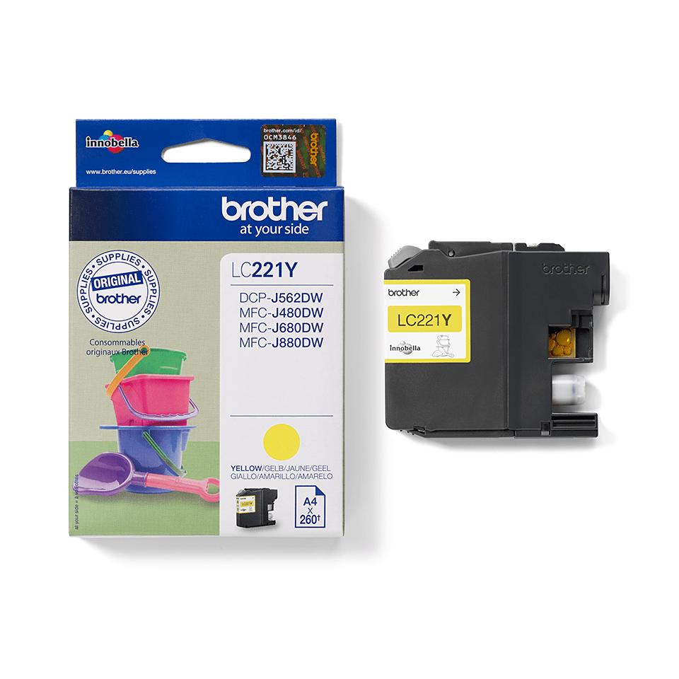 Brother LC-221Y Tintenpatrone – Gelb 2