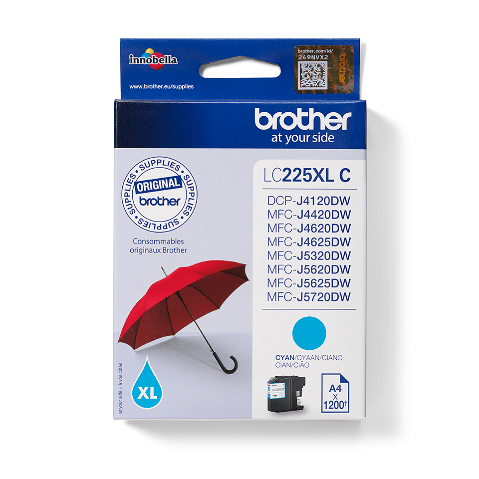 Brother LC-225XL-C Tintenpatrone – Cyan