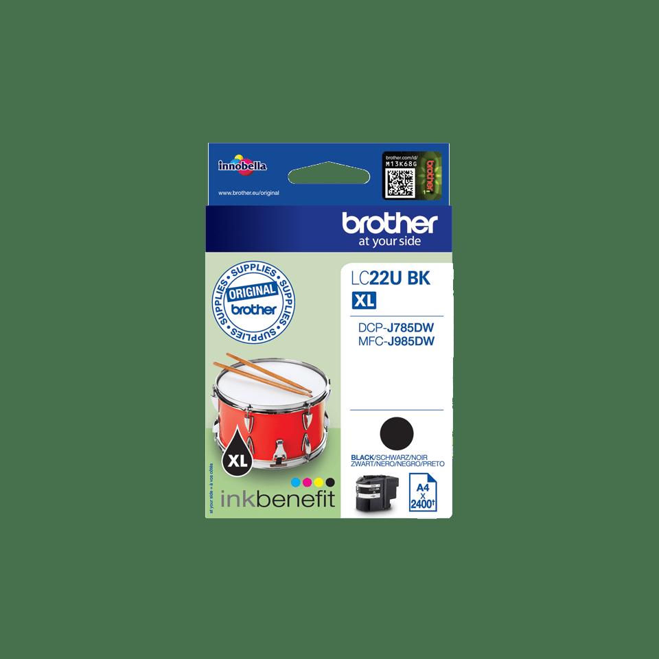 Brother LC-22UBK XL-Tintenpatrone – Schwarz