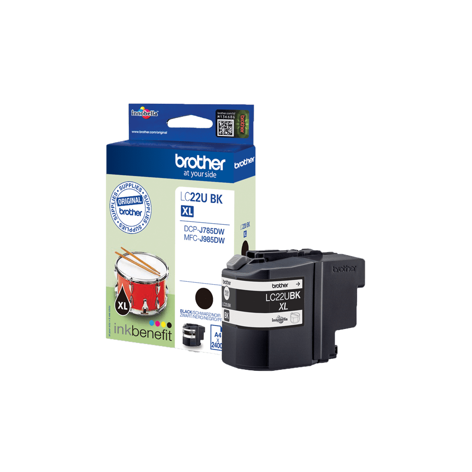 Brother LC-22UBK XL-Tintenpatrone – Schwarz