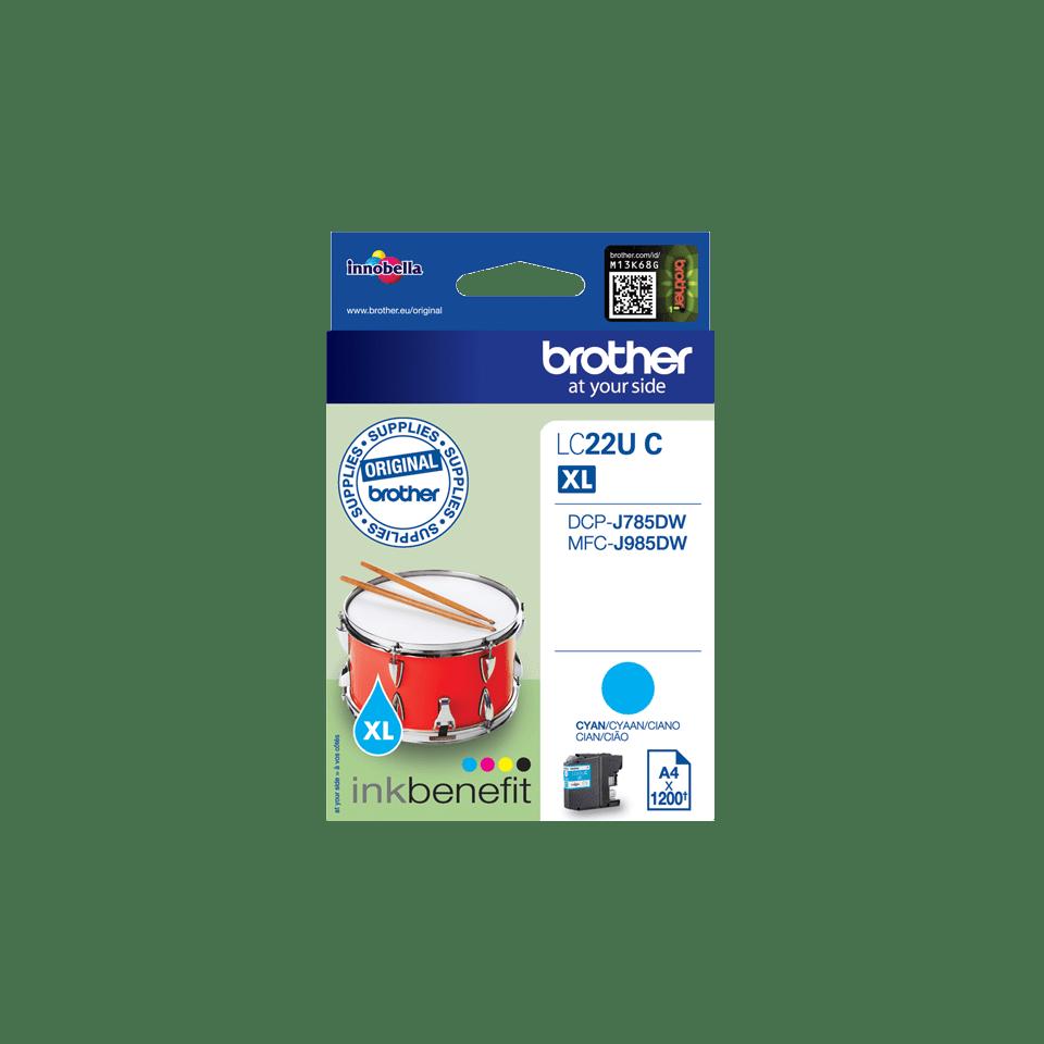 Brother LC-22UC XL-Tintenpatrone – Cyan 2