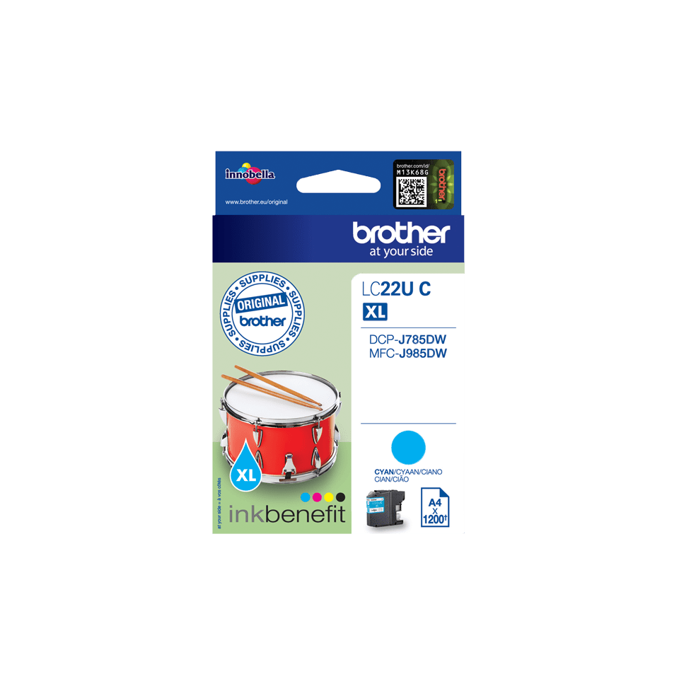Brother LC-22UC XL-Tintenpatrone – Cyan