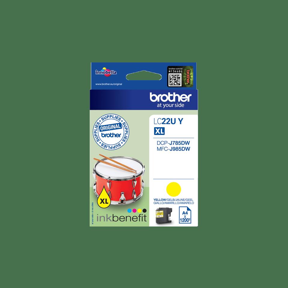 Brother LC-22UY XL-Tintenpatrone – Gelb