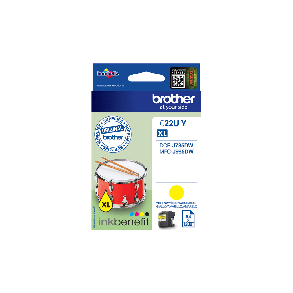 Brother LC-22UY XL-Tintenpatrone – Gelb 2