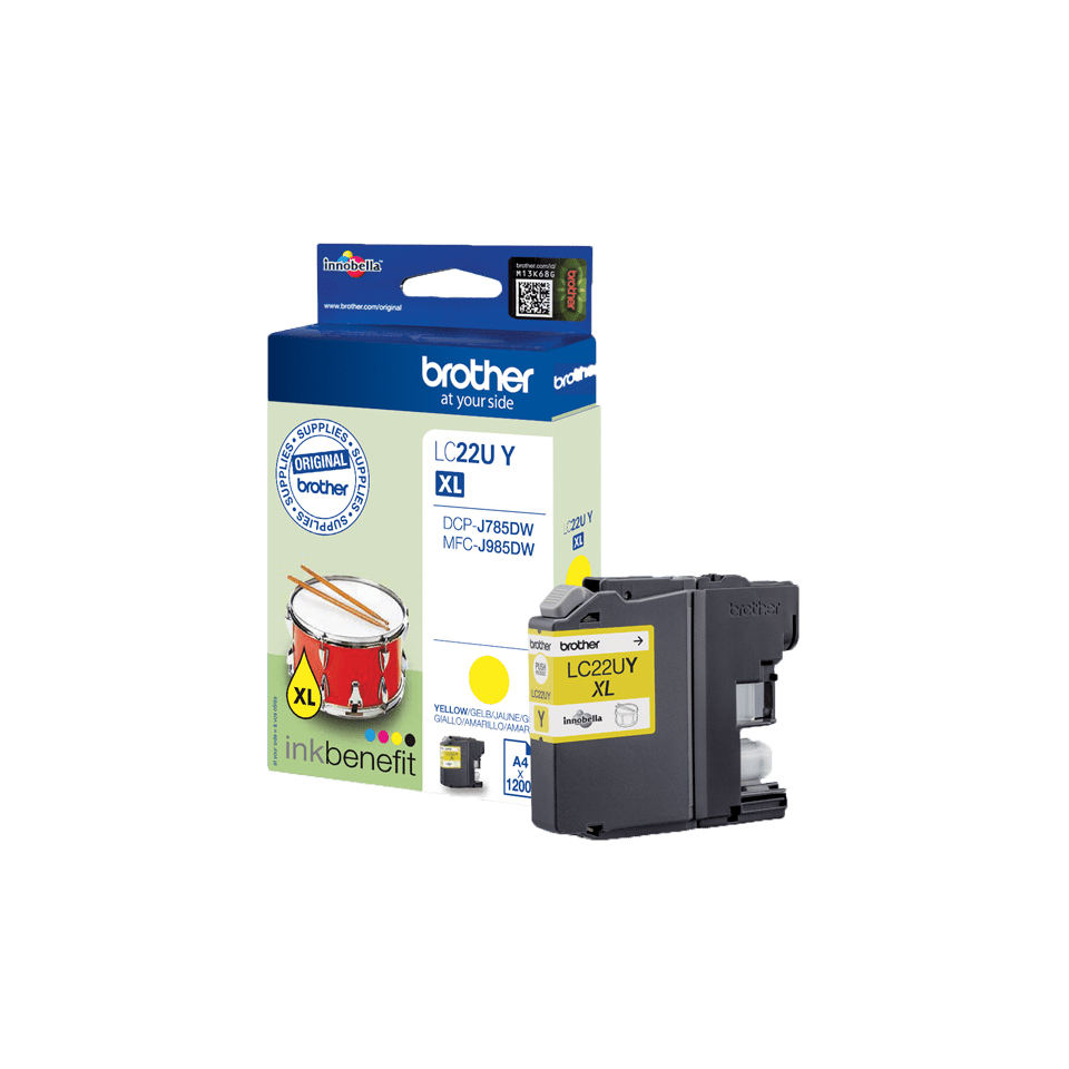 Brother LC-22UY XL-Tintenpatrone – Gelb 3