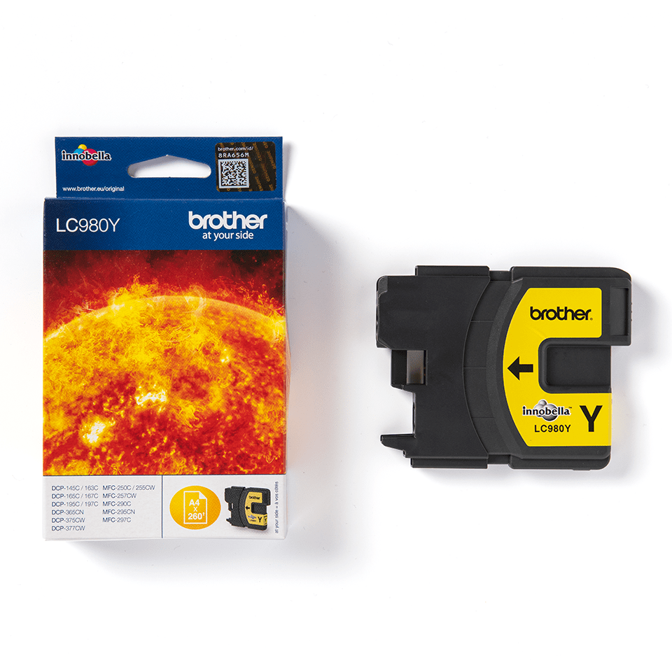 Brother LC-980Y Tintenpatrone –Gelb 2