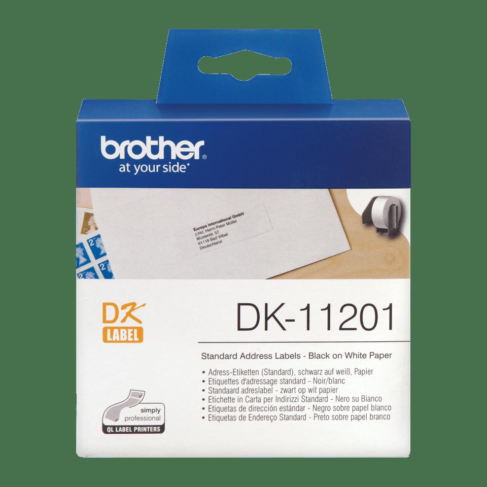 Brother DK-11201 Einzeletiketten – schwarz auf weiß