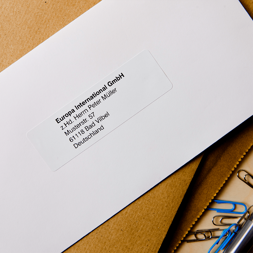 Brother DK-11201 Einzeletiketten – schwarz auf weiß 2
