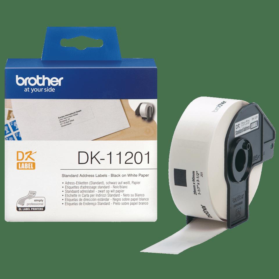 Brother DK-11201 Einzeletiketten – schwarz auf weiß 3