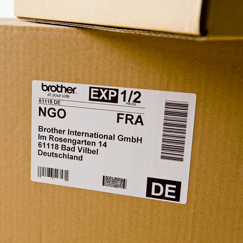 Brother DK-11202 Einzeletiketten – schwarz auf weiß 2