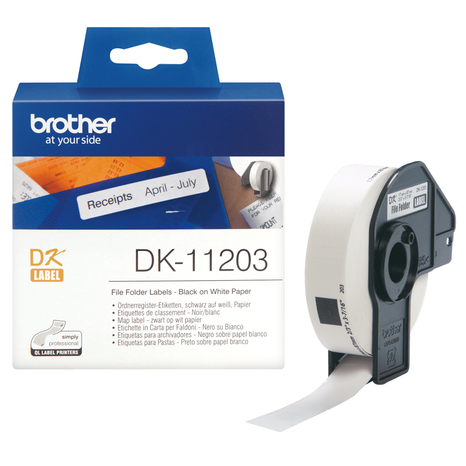 Brother DK-11203 Einzeletiketten – schwarz auf weiß 3