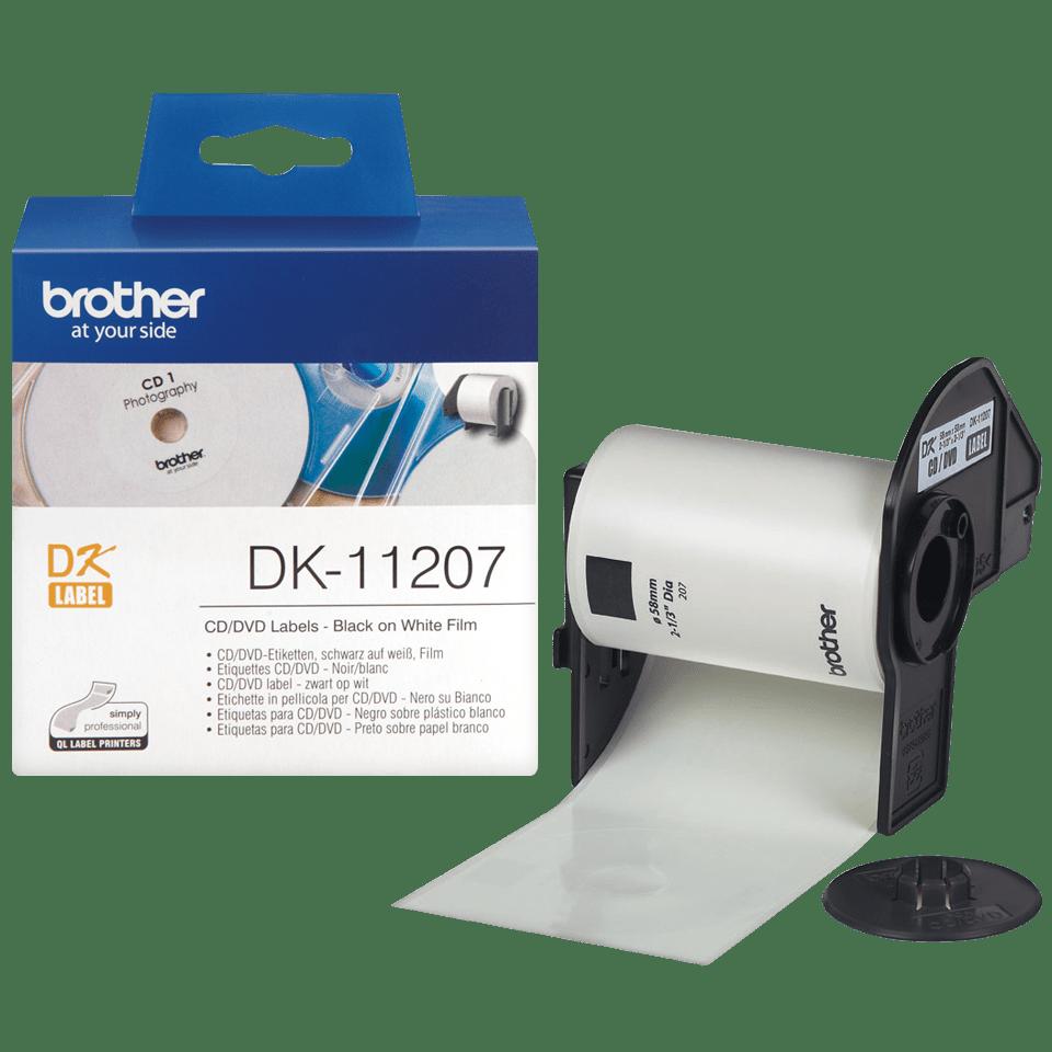 Brother DK-11207 Rundetiketten – schwarz auf weiß 3