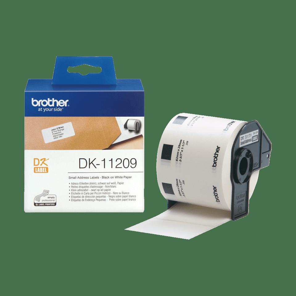 Brother DK-11209 Einzeletiketten – schwarz auf weiß 3