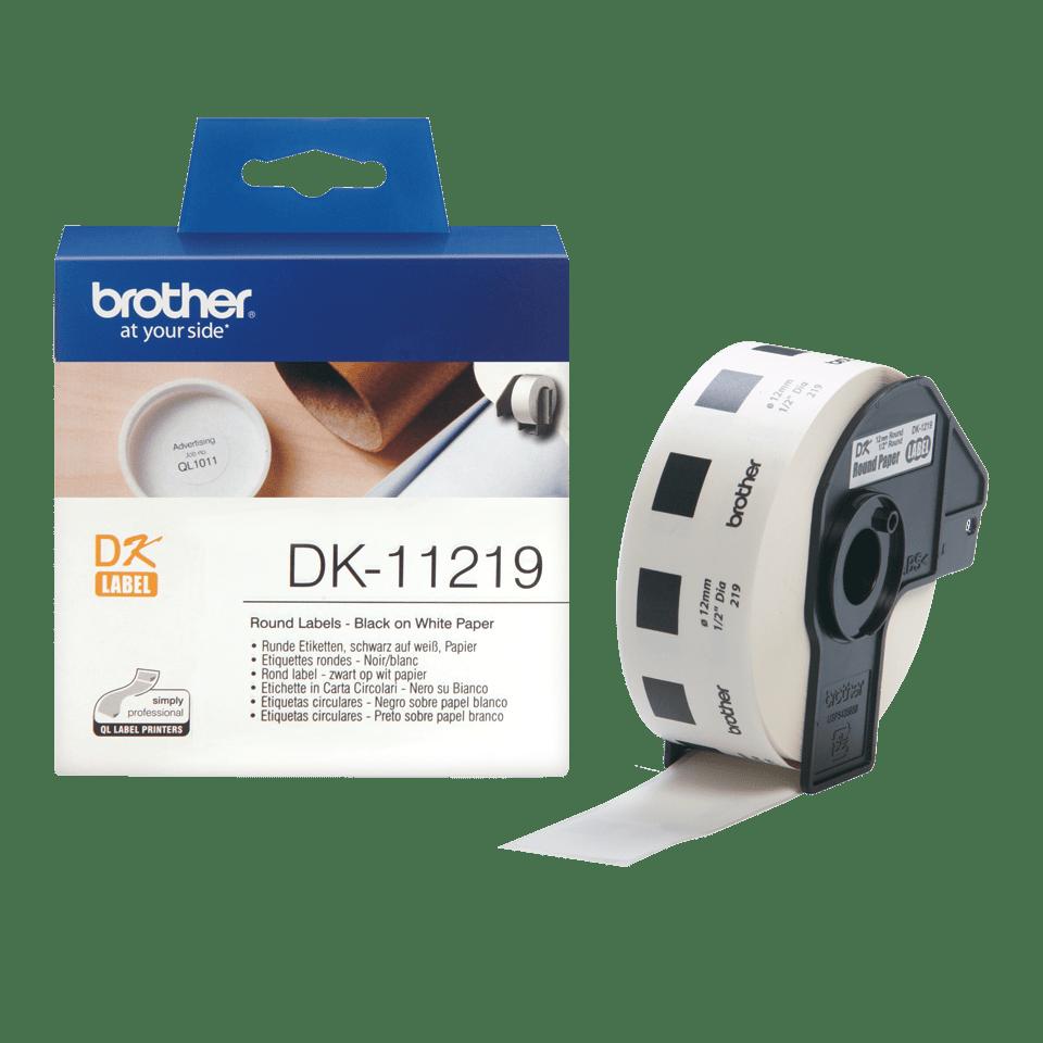 Brother DK-11219 Rundetiketten – schwarz auf weiß 3
