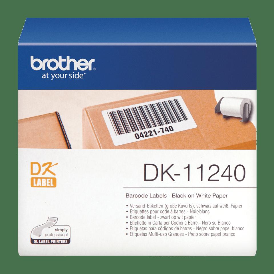 Brother DK-11240 Einzeletiketten – schwarz auf weiß 0