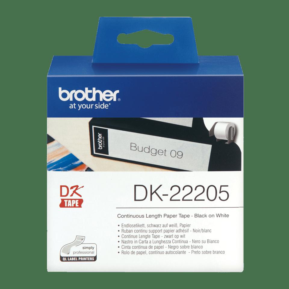 Brother DK-22205 Endlosetiketten – schwarz auf weiß