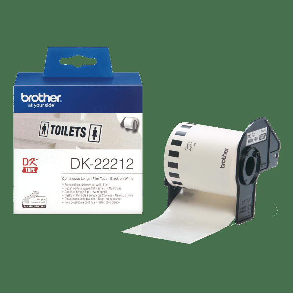 Brother DK-22212 Endlosetiketten – schwarz auf weiß 3