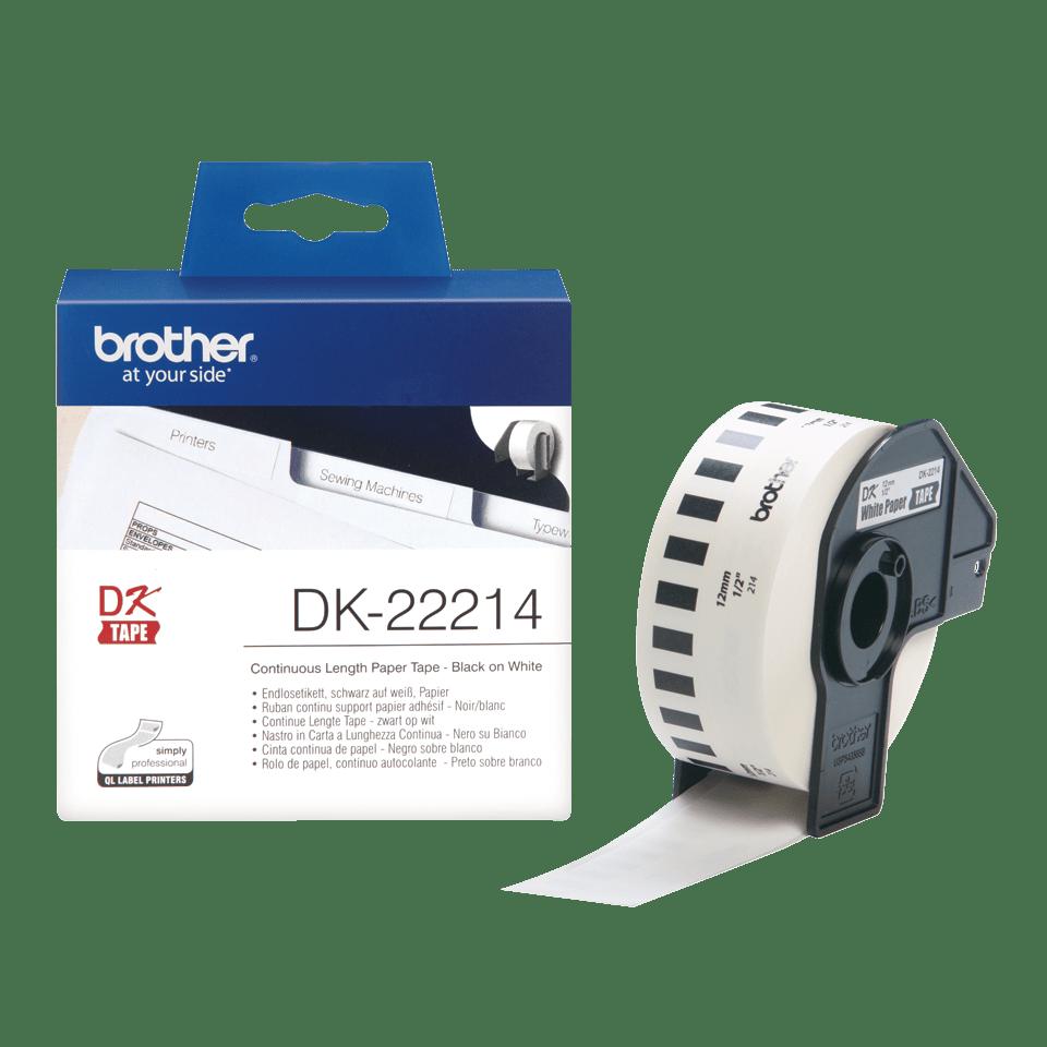 Brother DK-22214 Endlosetiketten – schwarz auf weiß 3