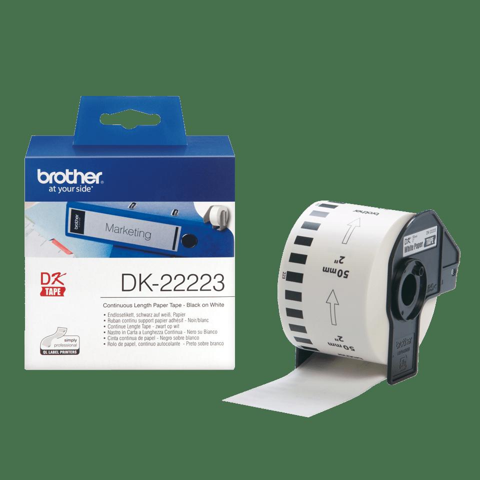 Brother DK-22223 Endlosetiketten – schwarz auf weiß 3