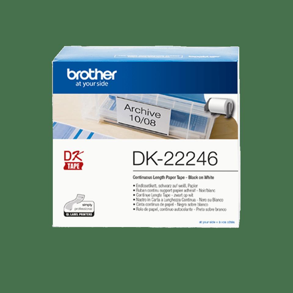 Brother DK-22246 Endlosetiketten – schwarz auf weiß