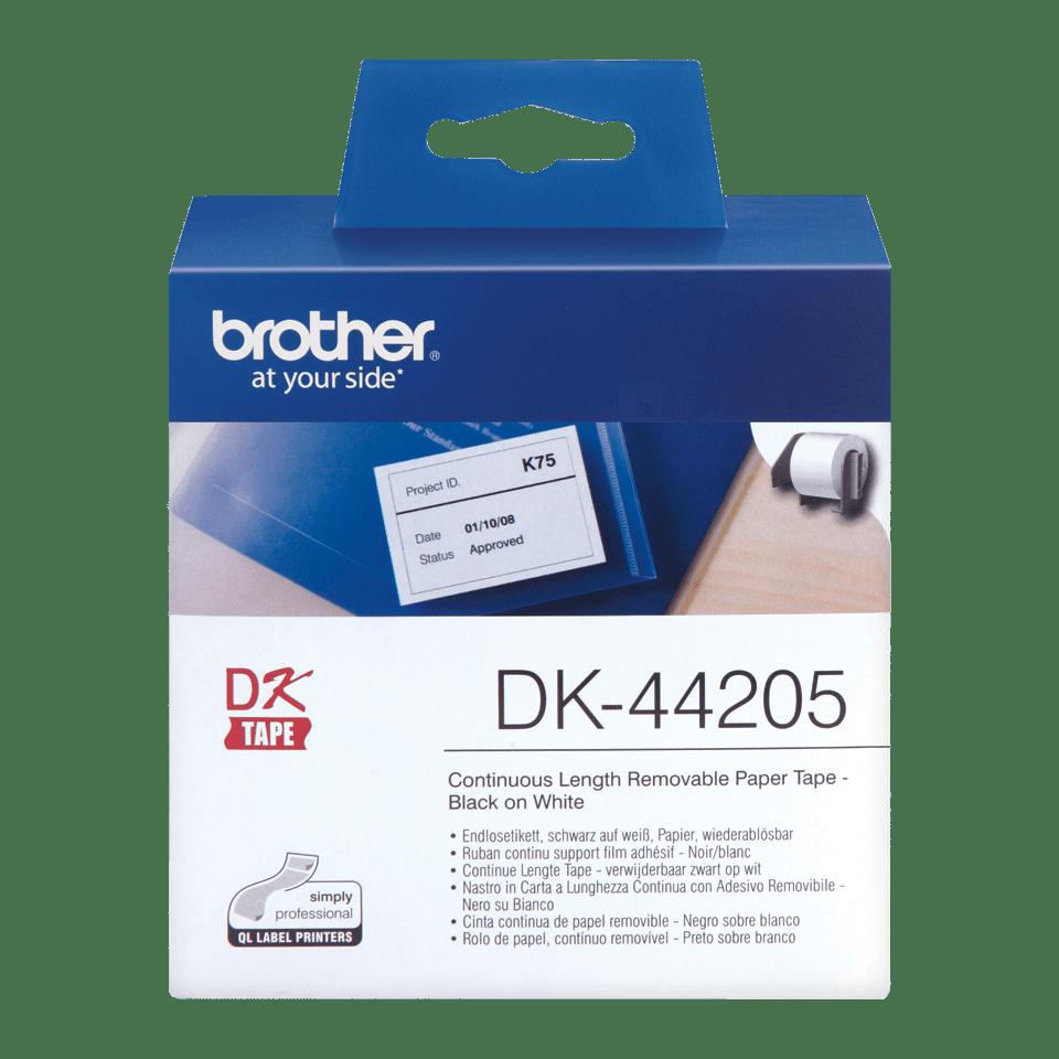 Brother DK-44205 Endlosetiketten – schwarz auf weiß 0