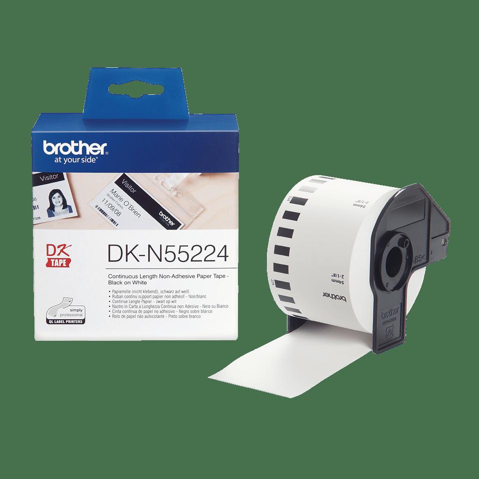Brother DK-N55224 Endlospapierrolle – schwarz auf weiß 3
